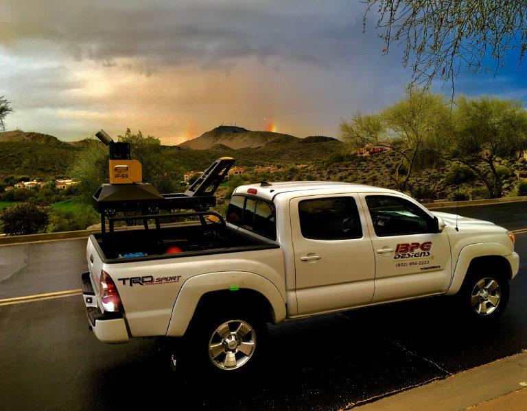 Lidar truck rainbow
