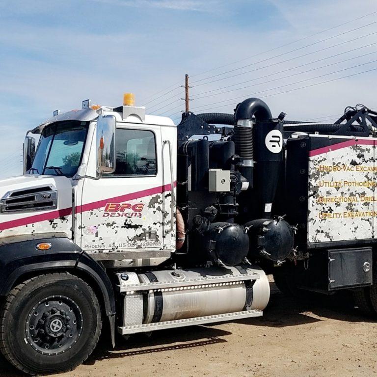 BPG Design Hydrovac truck